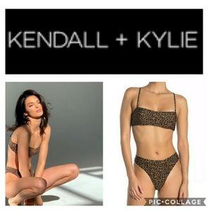 Kendall+Kylie Cheetah Print 2 piece Bikini